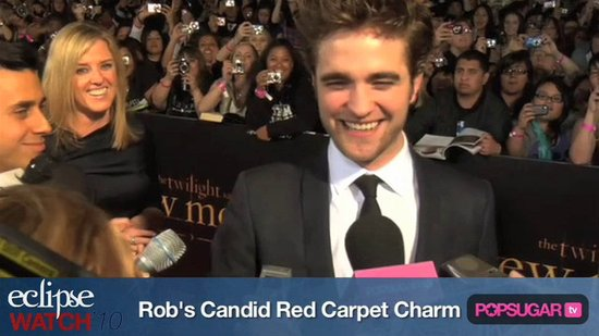 Eclipse Watch: Robert Pattinson's Candid Red Carpet Charm