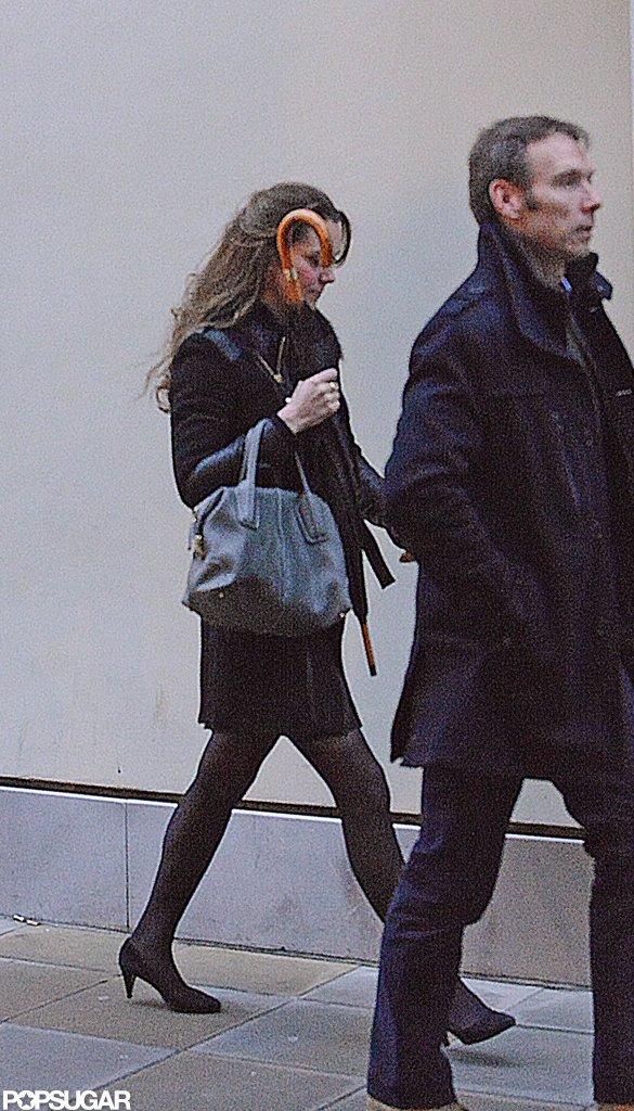 Pregnant Kate Middleton shopped in heels.  Source: Simpson/Bushell
