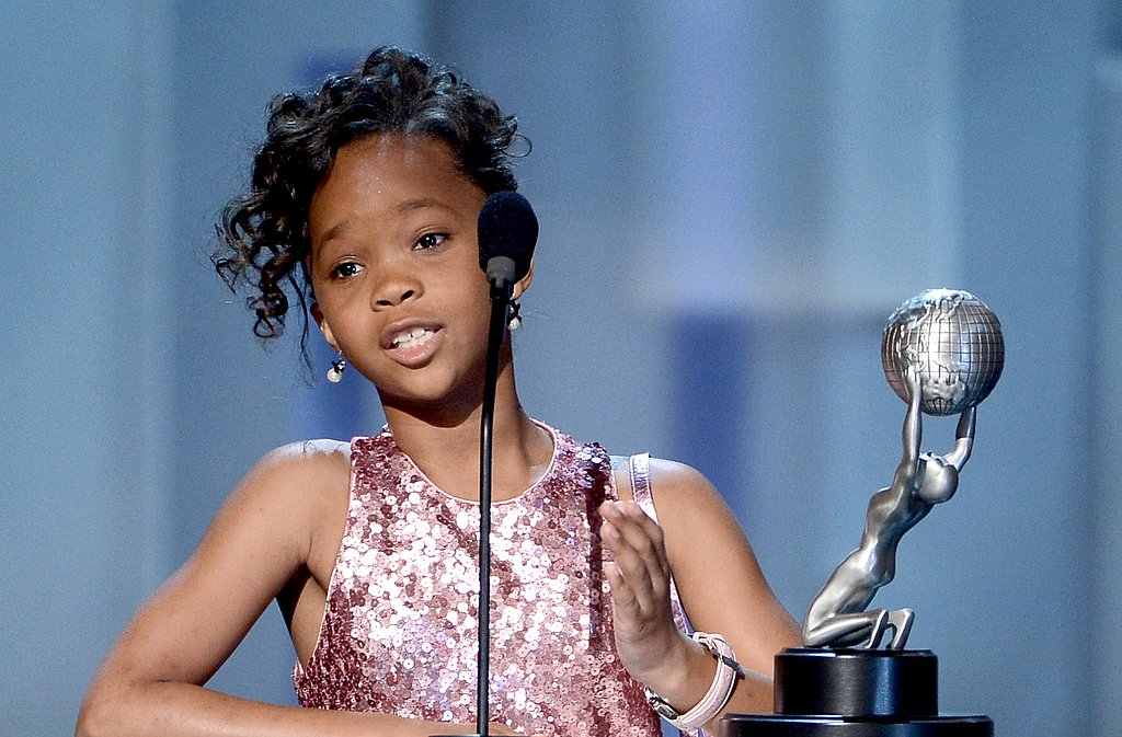 Quvenzhané Wallis attended the NAACP Image Awards in LA.