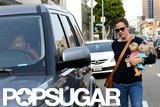 Jennifer Garner got into her car with Seraphina.