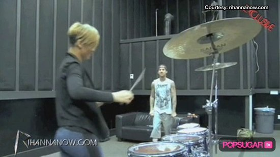 Video: Inside Rihanna's Drum Practice With Travis