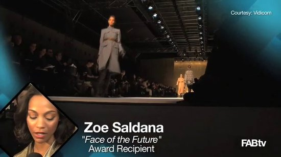 "Interview with Zoe Saldana: MaxMara ""Face of the Future"""