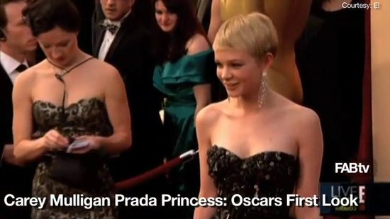 Carey Mulligan Pretty in Prada: Oscars 2010 First Look