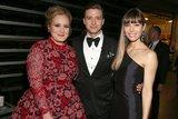 Adele, Justin Timberlake, and Jessica Biel