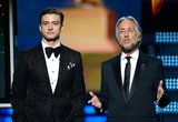 Justin Timberlake and Neil Portnow