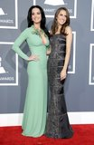 Katy Perry and Allison Williams posed together at the Grammys.