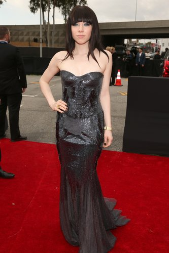 Carly Rae Jepsen stepped out in Roberto Cavalli for the Grammys.