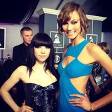 Karlie Kloss and Carly Rae Jepsen met up on the Grammys red carpet. Source: Instagram user KarlieKloss