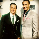 Ryan Lochte met up with Colin Kaepernick at Clive Owen's pre Grammy party. Source: Instagram user RyanLochte