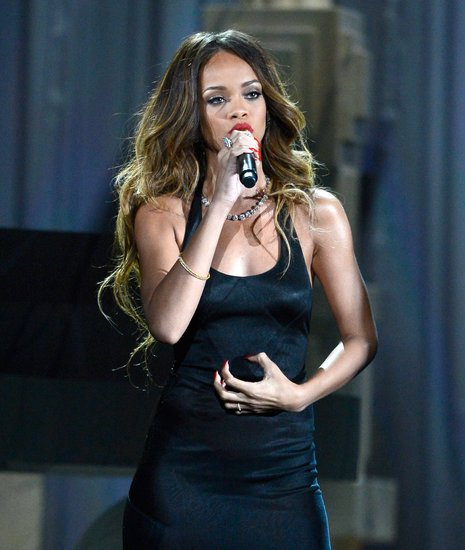 Rihanna took the stage at the Grammys.
