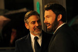 Ben Affleck shared a moment with George Clooney on the BAFTA Awards red carpet.