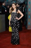 Elizabeth Olsen hit the red carpet in Chanel for the BAFTA Awards.
