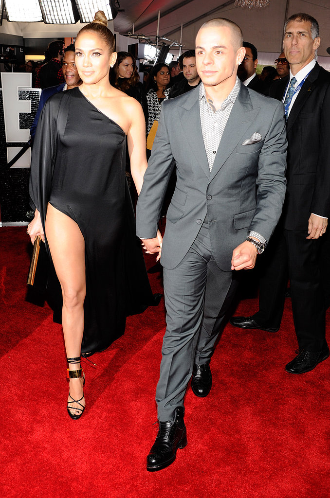 J Lo Shows Lots of Leg on the Grammys Red Carpet