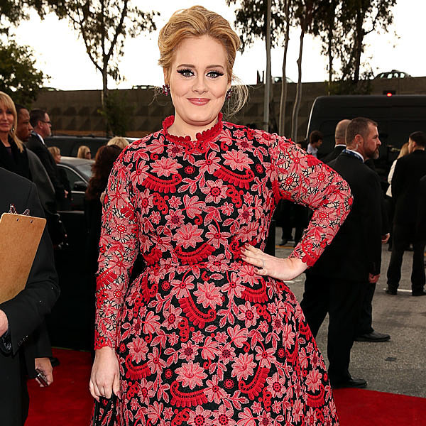 Pictures of Adele in Floral Valentino at the 2013 Grammys