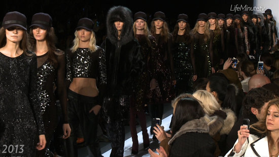 Hervé Léger Is All Sex Appeal, Sparkle, and Baseball Caps For Fall '13