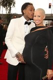 Rapper Wiz Khalifa and a very pregnant Amber Rose were too cute on the carpet.