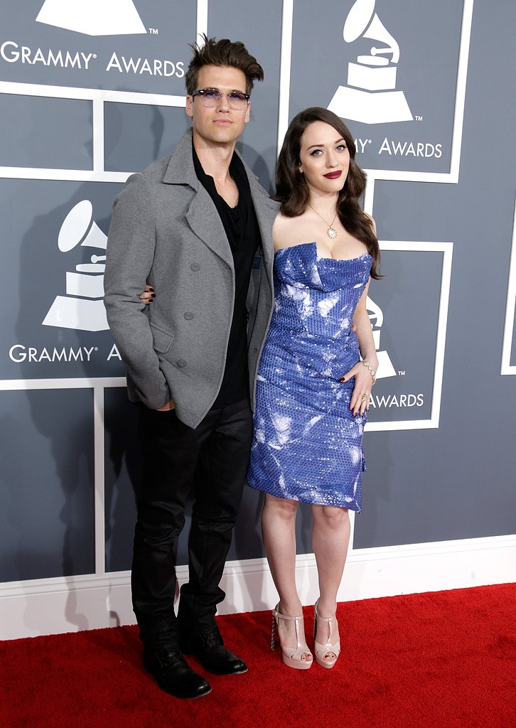 Kat Dennings and Nick Zano arrived together at the Grammys.