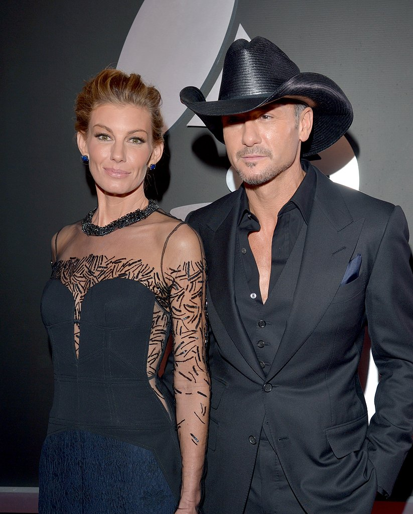 Country couple Faith Hill and Tim McGraw came out for the show.