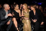 Casper Smart and Jennifer Lopez chatted with Keith Urban and Nicole Kidman during the Grammys.