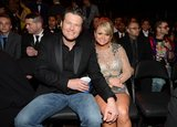 Country couple Miranda Lambert and Blake Shelton were all smiles inside the show.