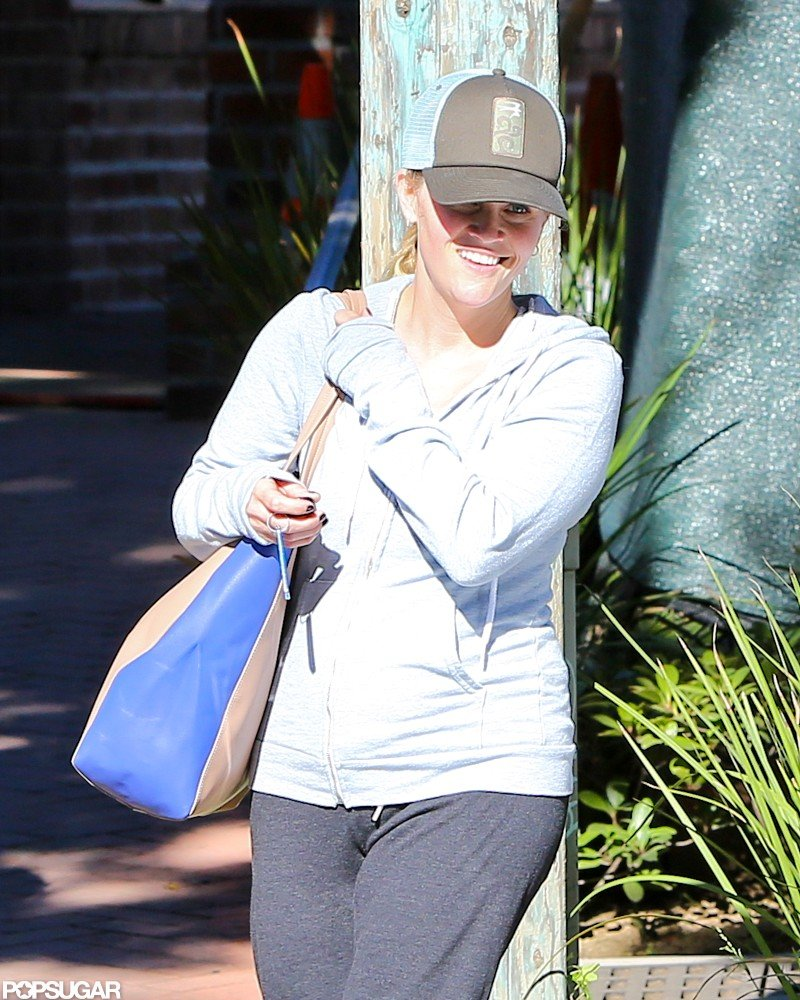 Reese Witherspoon smiled on her way to a workout.