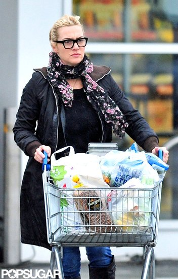 Kate Winslet went grocery shopping in Hampshire.