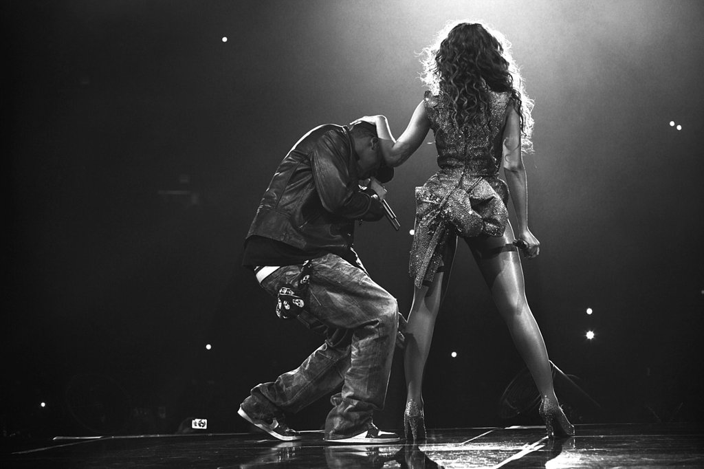 Jay Z joined Beyoncé on stage during her performance at Revel in Atlantic City, NJ, in May 2012. Source: Tumblr user Beyoncé Knowles