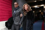 Jay Z escorted Beyoncé to their seats during the presidential inauguration ceremony in January 2013.
