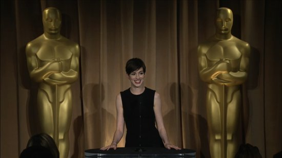 Video: Anne Hathaway Talks Award Season Stress and Hanging Out With Spielberg at the Oscars Luncheon