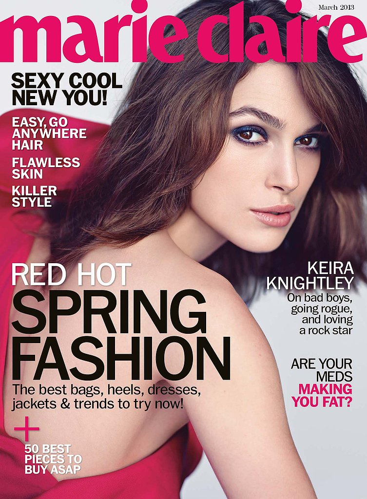 Keira Knightley covers the March 2013 issue of Marie Claire. Source: Marie Claire