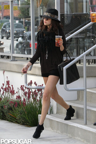 Selena Gomez grabbed lunch at Panera Bread in LA.