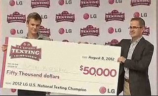 Kid Wins $50,000 for … Texting?  (VIDEO)