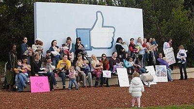 Moms Protest with Nurse-Ins at Facebook Offices