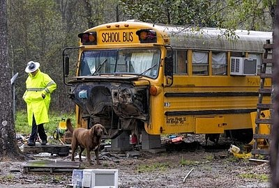 Children Found Living Alone in Old School Bus