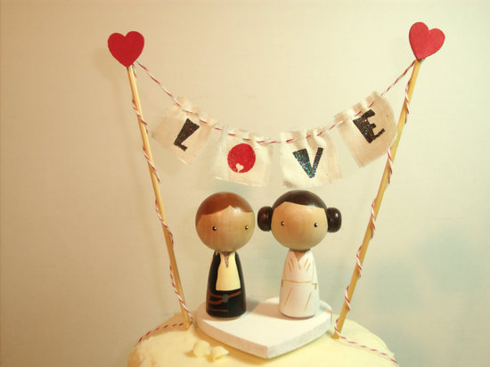 Han and Leia Cake Topper