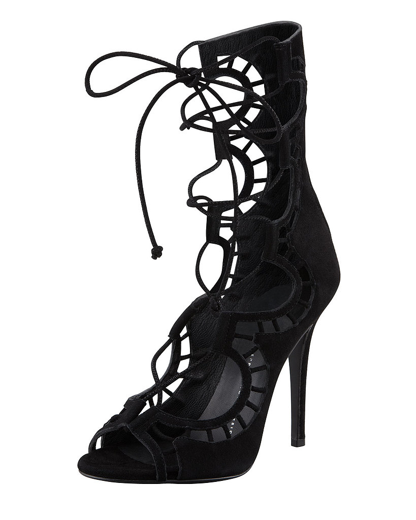 True to form, Giuseppe Zanotti's Suede Gladiator Heels ($1,195) are nothing short of sexy.
