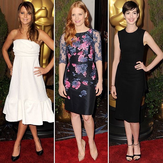 Jennifer, Jessica, and Anne Light Up the Oscars Nominees Luncheon