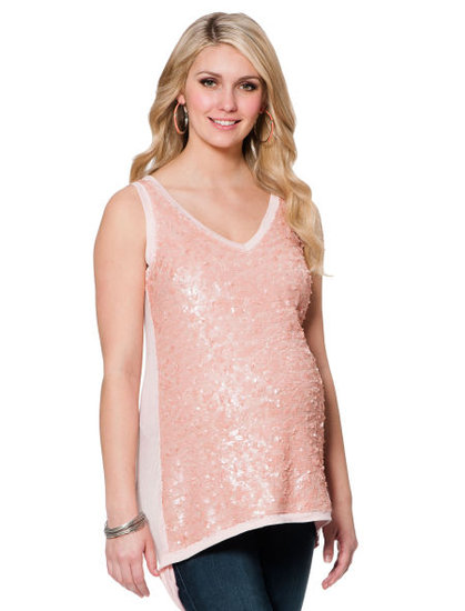 Every mama-to-be deserves to shine, and the Sleeveless V-Neck Embellished Maternity T Shirt ($59) does just that!