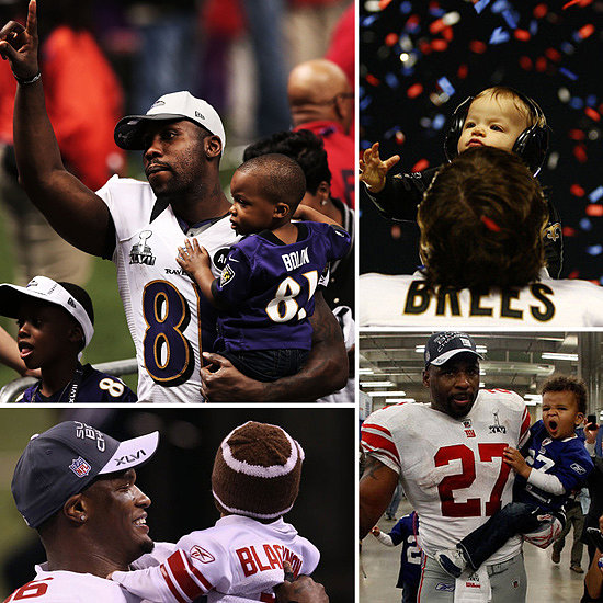 Super Bowl Super Dads: Hitting the Field With the NFL's Cutest Kids