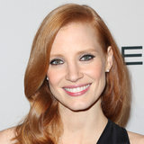 Jessica Chastain Wearing Black Eyeliner Yesterday