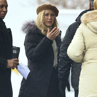 Jennifer Aniston With Blond Hair on Set | Pictures