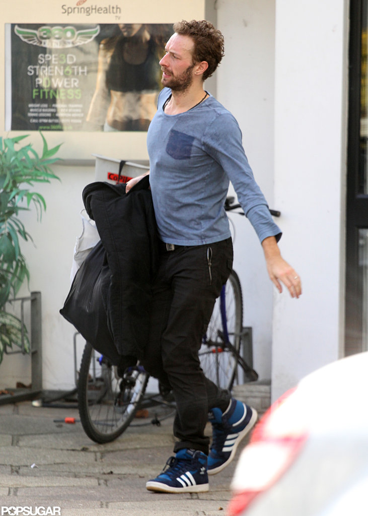 Chris Martin walked in London.