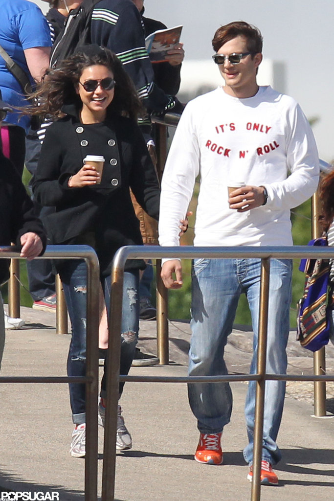 Mila Kunis and Ashton Kutcher walked hand in hand while in Australia for a romantic November 2012 vacation.