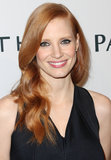 Jessica Chastain wore her red locks down for the occasion.