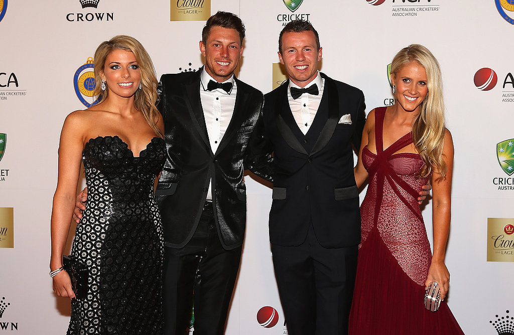 Kayla Dickson, James Pattinson, Peter Siddle and Anna Weatherlake