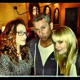 Kat Dennings, Beth Behrs, and Adam Shankman hung out after the Super Bowl. Source: Instagram user adamshankman