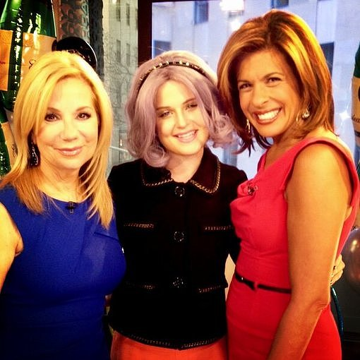 Kathie Lee Gifford and Hoda Kotb posed with Kelly Osbourne on the Today show set. Source: Twitter user MissKellyO