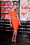 Candice Swanepoel stepped out in NYC for a Victoria's Secret Valentine's Day event.