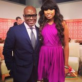 Jennifer Hudson shared a picture of her and producer L.A. Reid. Source: Twitter user IAMJHUD