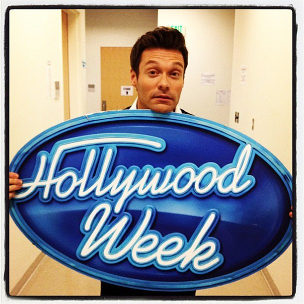 Ryan Seacrest reminded American Idol fans that Hollywood Week has begun. Source: Twitter user RyanSeacrest